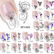 Beautiful Flowers Nail Art Nail Decals Water Transfer Stickers Tips Decoration