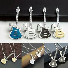 Men Womens Special Stainless Steel Guitar Pendant Jewelry For Necklace Chain Hot