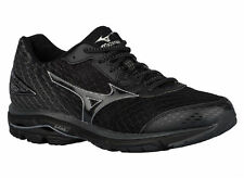 NEW MENS MIZUNO WAVE RIDER 19 RUNNING SHOES TRAINERS BLACK / DARK SHADOW