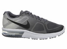 NEW MENS NIKE AIR MAX SEQUENT RUNNING SHOES TRAINERS DARK GREY / BLACK / PURE PL