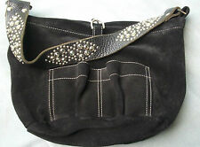 Tylie Malibu Black Suede Shoulder Bag