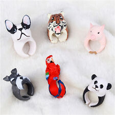 Multicolor Fashion New Lovely Cartoon Resin Finger Rings Animal Design Jewelry