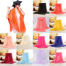 1Pc Stylish Women Long Stole Soft Chiffon Scarf Wrap Shawl Ladies Scarves Beach