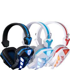 Cosonic LED PC Gaming Stereo Music Headset Headphone USB 3.5mm with Microphone