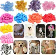 20Pcs Colorful Soft Rubber Pet Dog Cat Kitten Paw Claw Nail Caps Cover