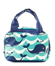 Splash Whale Insulated Lunch Box-Lunch Tote Bag-Navy- Lunch Bag-Back to school