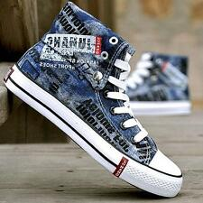 Western Cowboy Mens Canvas Graffiti HIp Hops Trainers Sneakers Sports Shoes Size