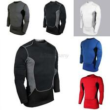 Mens Compression Base Layer Athletic Top Sport Tights Long Sleeve T-Shirts Tops