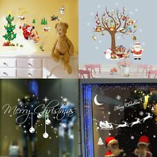 Christmas Snowflakes Tree Window Sticker Wall Decal Removable Xmas Decoration
