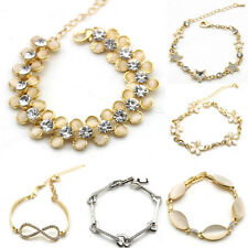 9 Style Women infinity Stars Charm Bracelet Bangle Gold Cuff Crystal Chain hot
