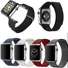 Real Magnetic Loop 100% Leather Watch Band Strap For Apple Watch iWatch 38/42mm