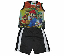 BOYS OUTFIT 2 PIECE SET SUPER MARIO AGE 4 5 6 7 & 8 YEARS