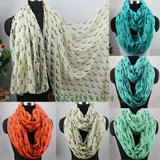 Fashion Womens Cute Mustache Print Soft Long Scarf Wrap Shawl/Infinity Scarf New