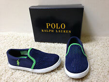 "NEW BOYS RALPH LAUREN Navy ""Benton"" Style SHOES Pick US Sz 9 10 Free US Ship"
