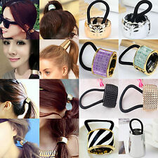 NT Punk Gothic Metal Hair Cuff Ponytail Clip Tie Holder Hair Band ELASTIC WRAP