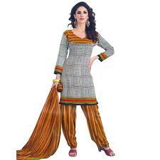 Ready To Wear French Crepe Printed Salwar Kameez Suit Indian Dress-Pummy-8009