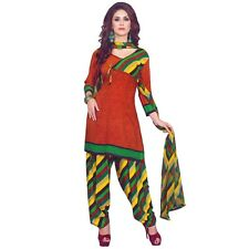 Ready To Wear French Crepe Printed Salwar Kameez Suit Indian Dress-Pummy-8008