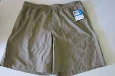 NWT Columbia Mens L Large Water Gulf Breeze Board Shorts Khaki Mesh Lined Trunk