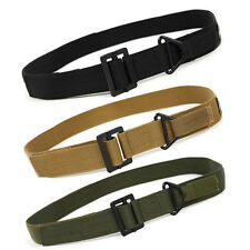 Outdoor Leisure Durable Tactical Men Military Rescue Rigger Belt Buckle Canvas