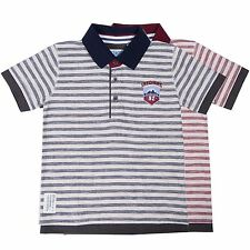 Boys Striped Polo Short Sleeved Collared T-Shirt Top Skechers sizes 4-9 years