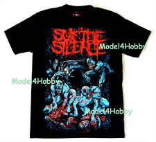 SUICIDE SILENCE T-Shirt Black M L XL PREDATORS TO PREY DEATHCORE MONSTER DEATH