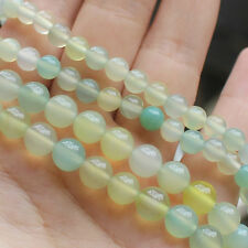 Multi-Color Green Agate6mm/8mm Round Loose Beads 15""