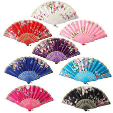 Wedding Party Gift Handmade Chinese Plastic Flower Pattern Folding Lace Hand Fan