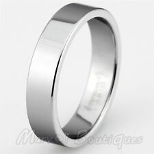 8mm Tungsten Carbide Polished Plain Band Silver Wedding Anniversary Ring Gift