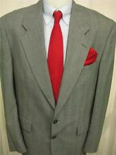 Mens Bachrach 2 Button Striped Gray Sport Coat Blazer Jacket 40L