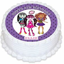 Monster High Personalised Round Edible Icing Cake Topper - PRE-CUT