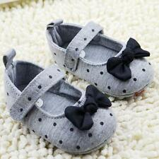 Lvoely Toddler Girl Polka Dot Bowknot Crib Shoes Soft Sole Baby Shoes Prewalker