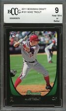 2011 bowman draft #101 MIKE TROUT los angeles angels rookie card BGS BCCG 9