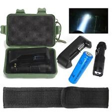 5000LM Mini CREE Q5 LED Flashlight Torch  Lamp w/ 14500 Battery + Charger + Box