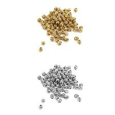 100± Vtg Gold/Silver Pumpkin Round Spacer Beads Charms DIY Jewelry Findings 4mm