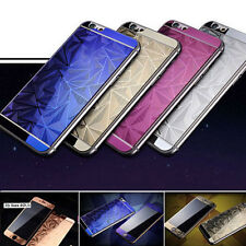 3D Diamond Tempered Glass Front+Back Screen Protector For iPhone4 5s 6 6splusESU