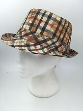 LADIES BEIGE TAUPE BROWN OLIVE WINE FLORAL TRILBY FEDORA HAT BNWOT