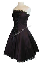 Plus Gothic Rockabilly Steampunk Victorian Corset design purple satin dress