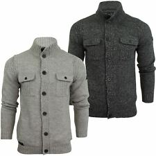 Mens Button Tru Cardigan Jumper by Dissident 'Josaphat' Wool Blend