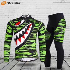 Cycling Jersey Sets Team Biking Long Sleeve Mens Bicycle Jersey&Pants Padded Set