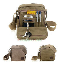 Men's Canvas Messenger Shoulder CrossBody Multipurpose Travel Hiking Bag Pouch