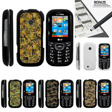 For LG Cosmos 3 VN251S Case Hard Snap On 2 Piece Slim Shell Digital Camouflage