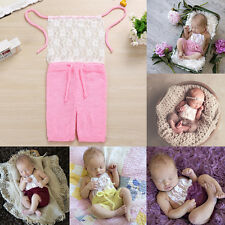 Newborn Infant Baby Girls Sleeveless Romper Jumpsuit Lace Outfits Clothes Top
