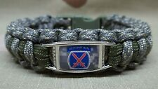 U.S. 10th Mountain Division DIGITAL ACU CAMO & OD Paracord Bracelet w/ Buckle