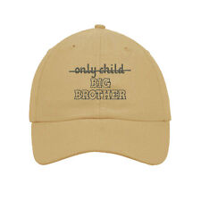 Only Child Big Brother Embroidered Soft Unstructured Hat Baseball Cap