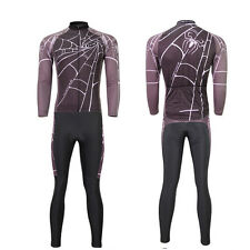 New Men's Long Sleeve Biking Sports Suits Cycling Clothing Jersey Trousers Sets