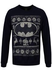 DC Comics Batman Fair Isle Logo Men's Navy Sweater