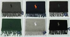 Polo Ralph Lauren mens scarf big pony lambswool winter scarf NEW