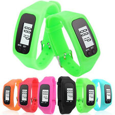 Men's Women LCD Pedometer Silicone Bracelet Date Sport Wrist Watch New Fashion
