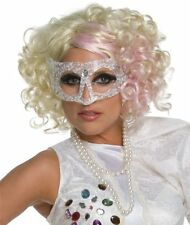 Licensed Lady Gaga Rock Star Adult Blonde Wig Costume Accessory, Rubies 2 Styles