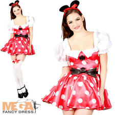 Sexy Mouse Ladies Fancy Dress Fairytale Minnie Costume Outfit + Ears UK 6-24